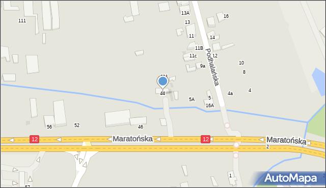 Radom, Maratońska, 44, mapa Radomia