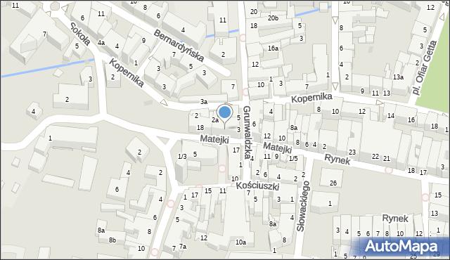 Rzeszów, Matejki Jana, 16, mapa Rzeszów