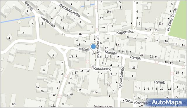 Rzeszów, Matejki Jana, 17, mapa Rzeszów