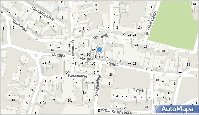 Rzeszów, Matejki Jana, 6, mapa Rzeszów