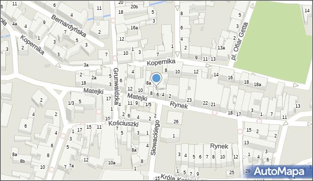 Rzeszów, Matejki Jana, 6a, mapa Rzeszów