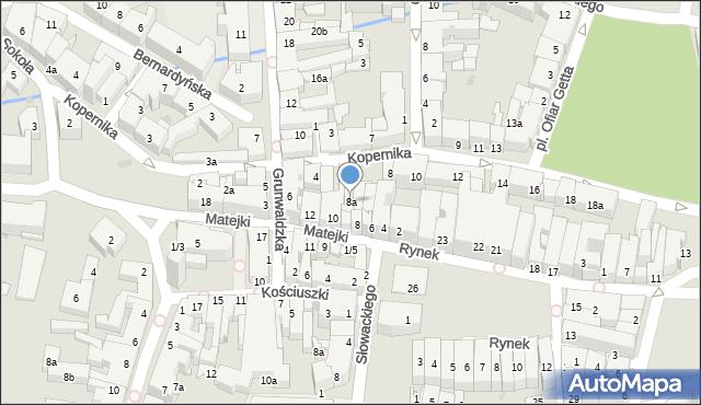 Rzeszów, Matejki Jana, 8a, mapa Rzeszów