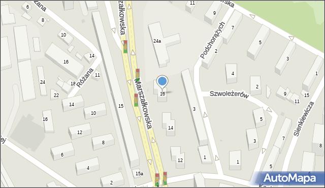 Rzeszów, Marszałkowska, 16, mapa Rzeszów