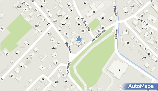 Sokołów Podlaski, Magistracka, 24, mapa Sokołów Podlaski
