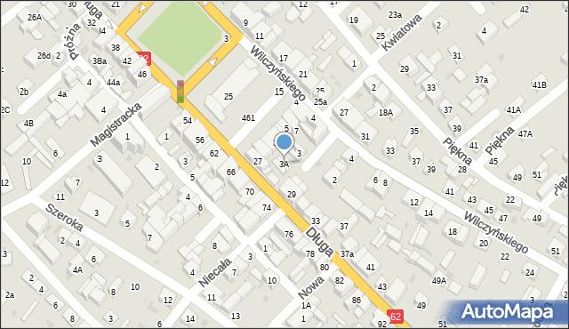 Sokołów Podlaski, Mały Rynek, 3A, mapa Sokołów Podlaski