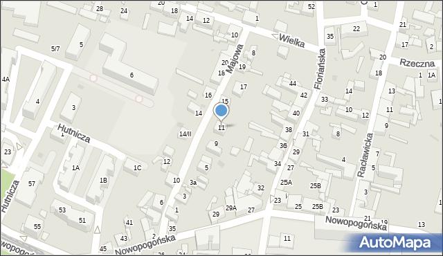 Sosnowiec, Majowa, 11, mapa Sosnowca