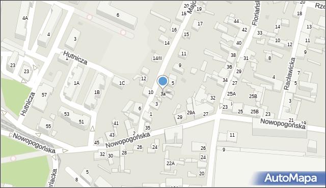 Sosnowiec, Majowa, 3a, mapa Sosnowca