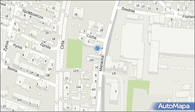 Sosnowiec, Mariacka, 12, mapa Sosnowca