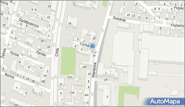 Sosnowiec, Mariacka, 16, mapa Sosnowca
