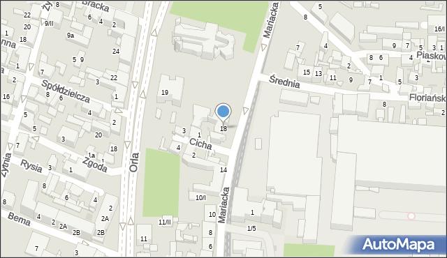 Sosnowiec, Mariacka, 18, mapa Sosnowca