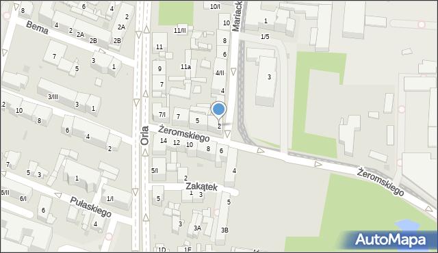 Sosnowiec, Mariacka, 2, mapa Sosnowca