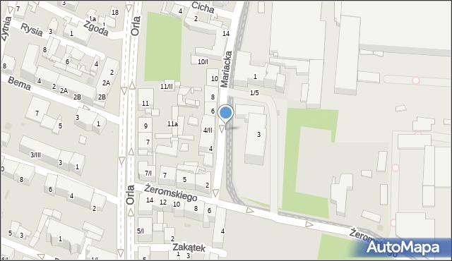 Sosnowiec, Mariacka, 4ii, mapa Sosnowca
