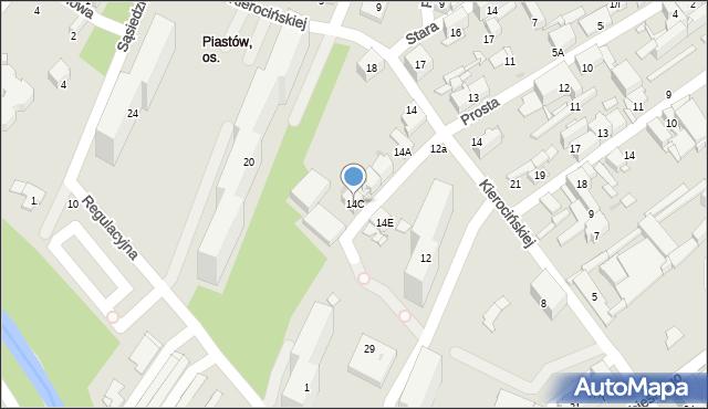 Sosnowiec, Matki Kierocińskiej Teresy, 14C, mapa Sosnowca
