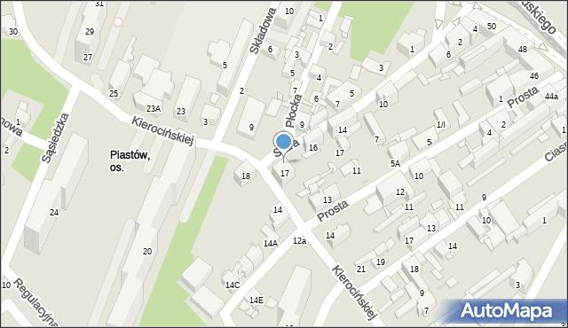 Sosnowiec, Matki Kierocińskiej Teresy, 17A, mapa Sosnowca