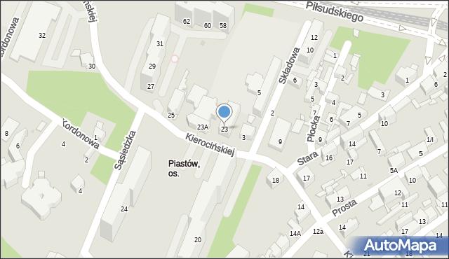 Sosnowiec, Matki Kierocińskiej Teresy, 23, mapa Sosnowca