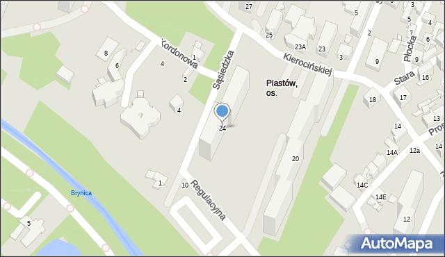 Sosnowiec, Matki Kierocińskiej Teresy, 24, mapa Sosnowca