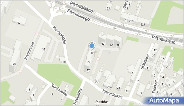 Sosnowiec, Matki Kierocińskiej Teresy, 31, mapa Sosnowca