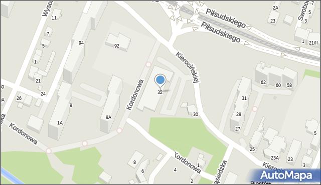 Sosnowiec, Matki Kierocińskiej Teresy, 32, mapa Sosnowca