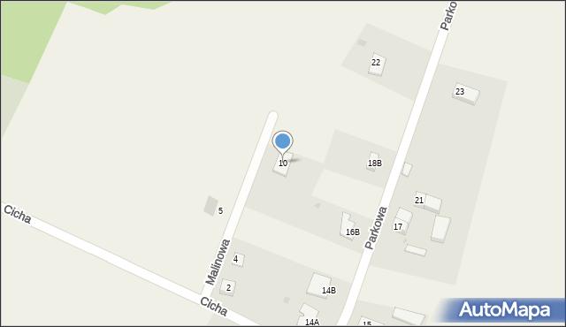 Sucha Górna, Malinowa, 10, mapa Sucha Górna