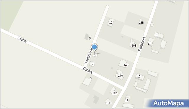 Sucha Górna, Malinowa, 4, mapa Sucha Górna