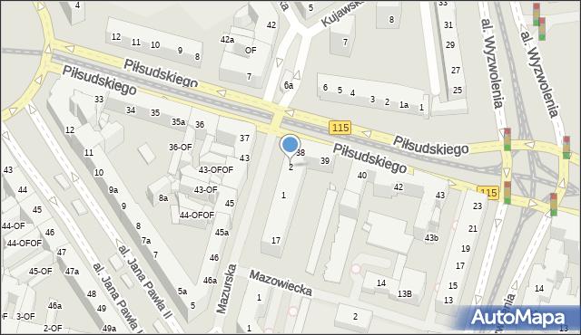 Szczecin, Mazurska, 2, mapa Szczecina