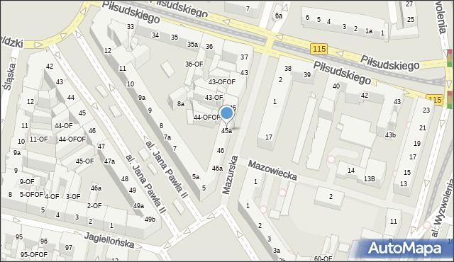 Szczecin, Mazurska, 45a, mapa Szczecina