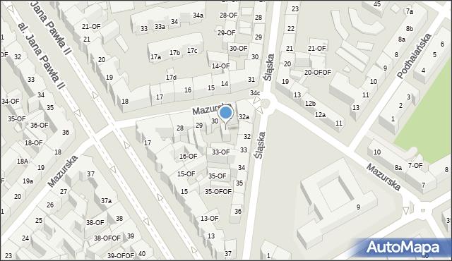 Szczecin, Mazurska, 30A, mapa Szczecina