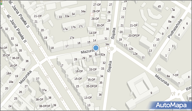 Szczecin, Mazurska, 32, mapa Szczecina