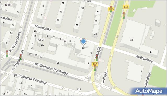 Szczecin, Małopolska, 12, mapa Szczecina