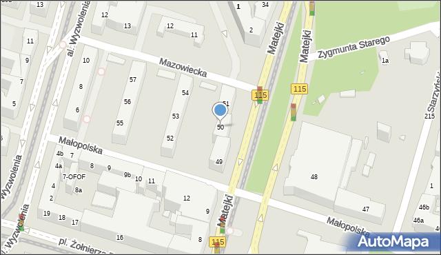 Szczecin, Małopolska, 50, mapa Szczecina