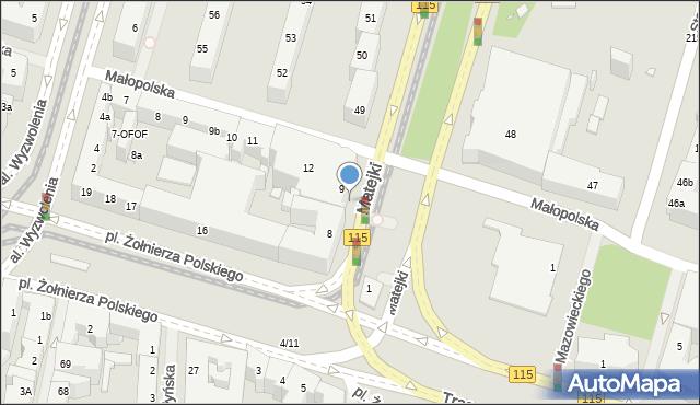 Szczecin, Małopolska, 26, mapa Szczecina