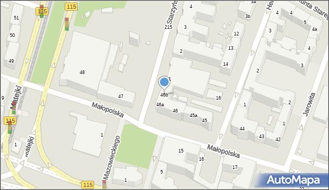 Szczecin, Małopolska, 46b, mapa Szczecina