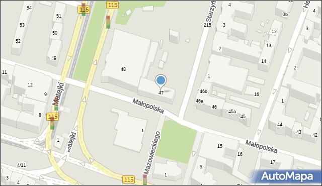 Szczecin, Małopolska, 47, mapa Szczecina