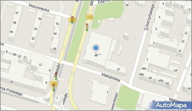 Szczecin, Małopolska, 48, mapa Szczecina