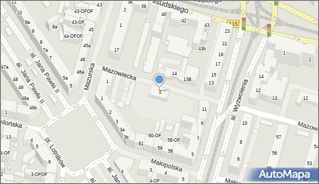 Szczecin, Mazowiecka, 2, mapa Szczecina