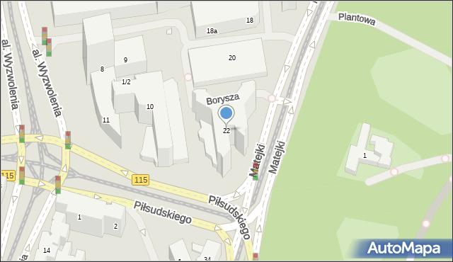 Szczecin, Matejki Jana, 22, mapa Szczecina