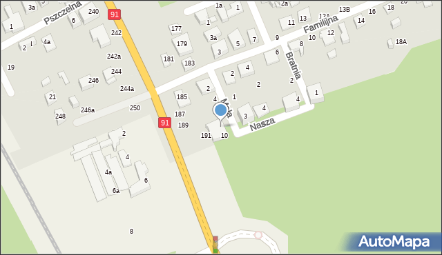 Toruń, Mała, 8, mapa Torunia