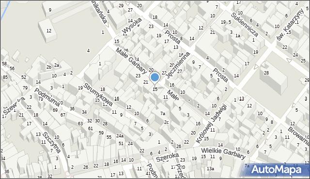 Toruń, Małe Garbary, 15, mapa Torunia
