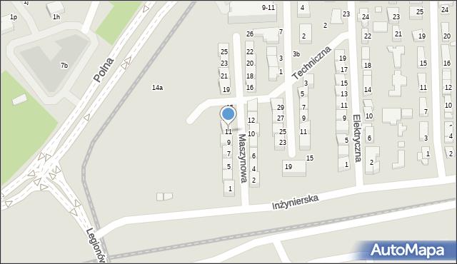 Toruń, Maszynowa, 11, mapa Torunia