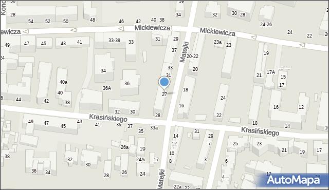 Toruń, Matejki Jana, 27, mapa Torunia