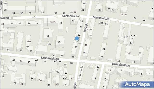Toruń, Matejki Jana, 29, mapa Torunia