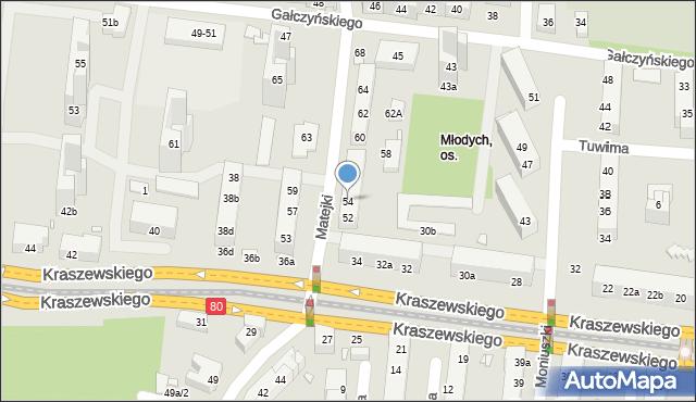 Toruń, Matejki Jana, 54, mapa Torunia