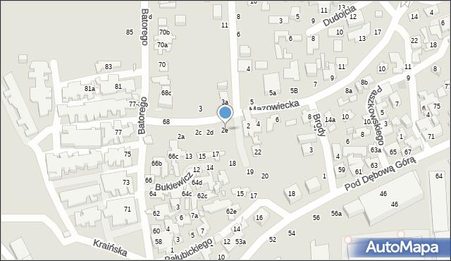 Toruń, Mazowiecka, 2e, mapa Torunia