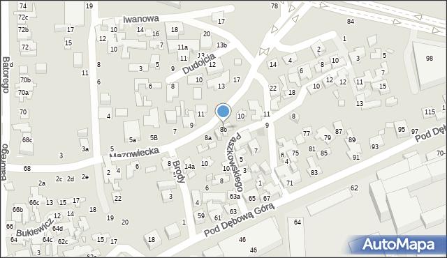 Toruń, Mazowiecka, 8b, mapa Torunia