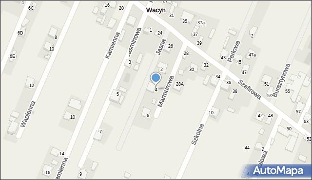 Wacyn, Marmurowa, 4, mapa Wacyn
