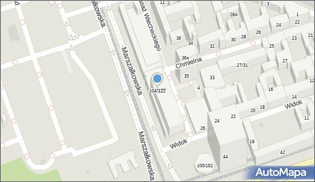 Warszawa, Marszałkowska, 104/122, mapa Warszawy