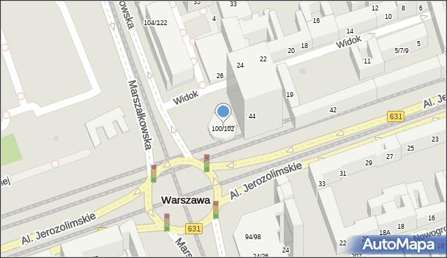 Warszawa, Marszałkowska, 100a, mapa Warszawy
