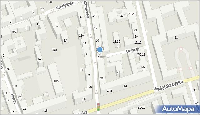 Warszawa, Mazowiecka, 6/8, mapa Warszawy