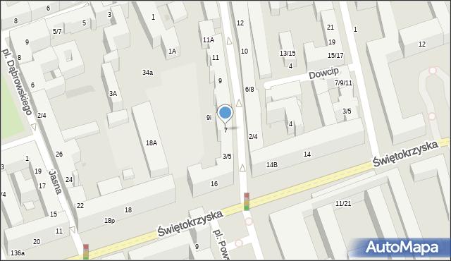 Warszawa, Mazowiecka, 7, mapa Warszawy