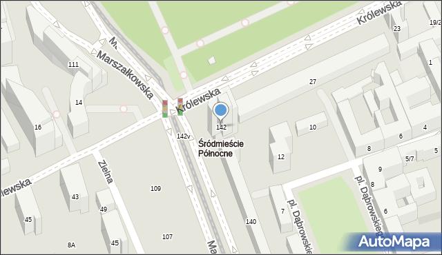 Warszawa, Marszałkowska, 142, mapa Warszawy